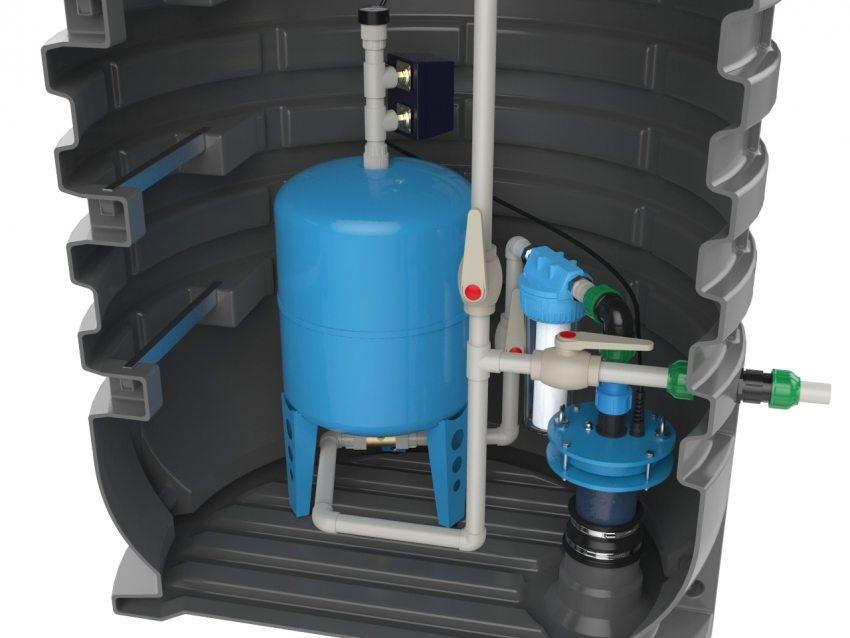 Внутреннее устройство кессона для скважины