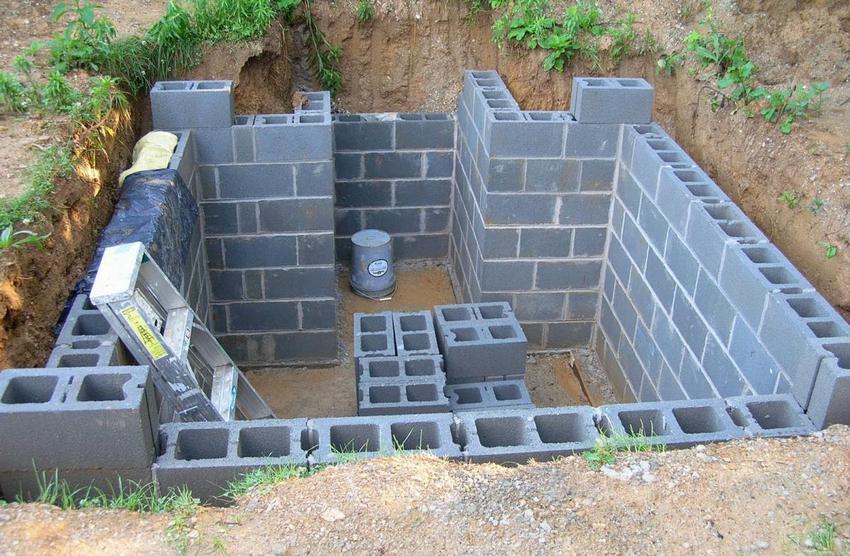 Строительство погреба своими руками. Шаг 3: возведение стен