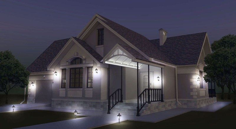 Проект дома из клееного и профилированного бруса на две