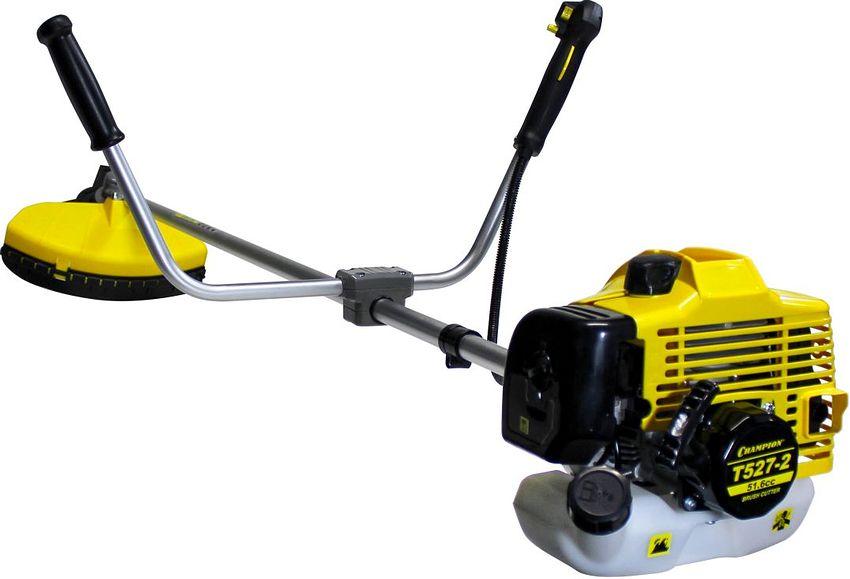Бензиновый триммер Чемпион T527-2 характеризуется простотой обслуживания, удобством управления и высокой мощностью при относительно небольшом для профессиональных моделей весе