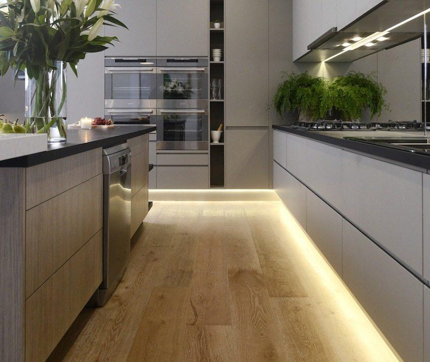 Использование LED-ленты для дополнительной подсветки на кухне