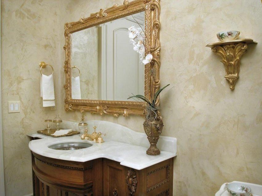 Оптимальным вариантом отделки ванной комнаты является влагостойкая штукатурка