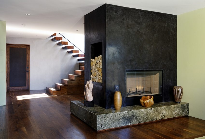 Отделка стен под черный мрамор – прекрасный вариант декорирования современного интерьера