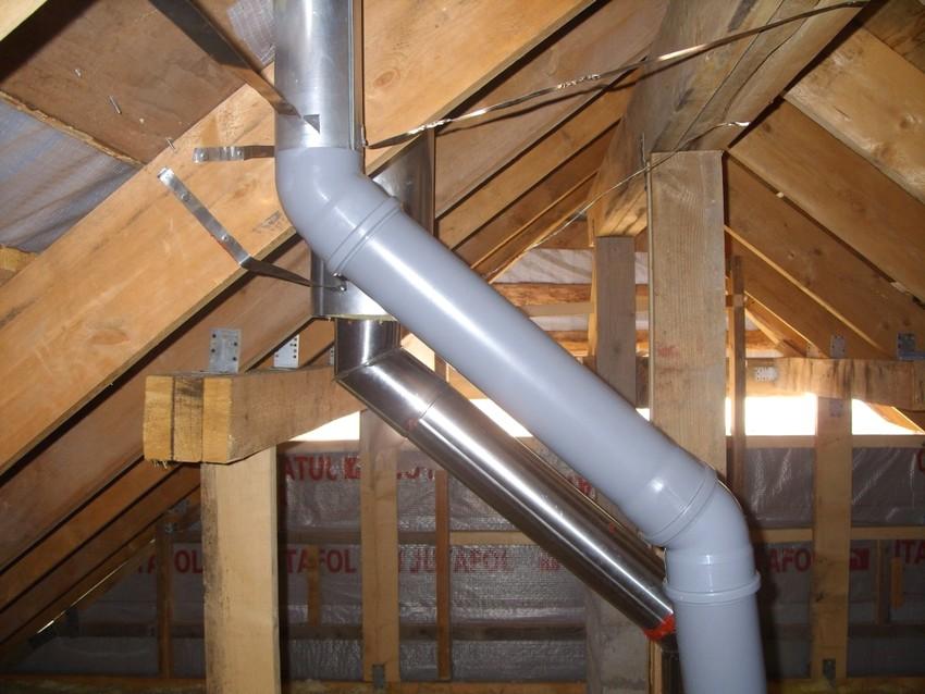 При скапливании на внутренних стенках дымохода сажи вывод угарного газа из помещения затрудняется