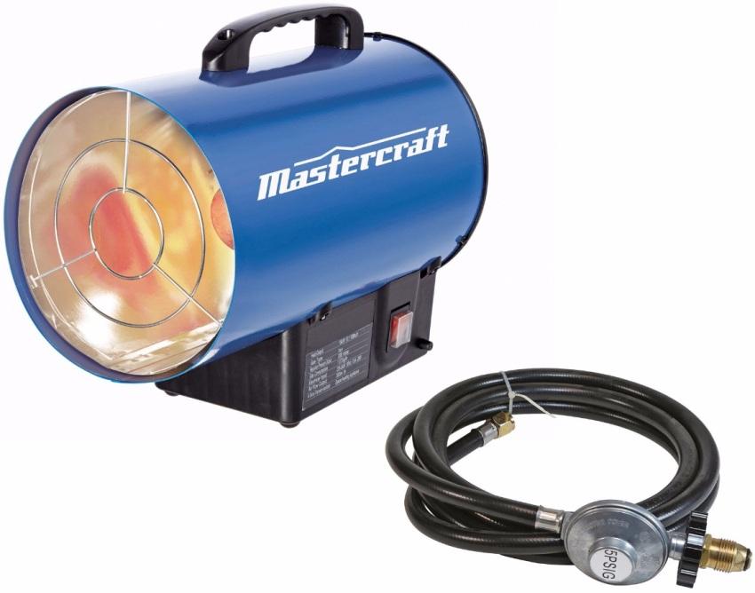 Газовый обогреватель-пушка для гаража, работающий на пропане