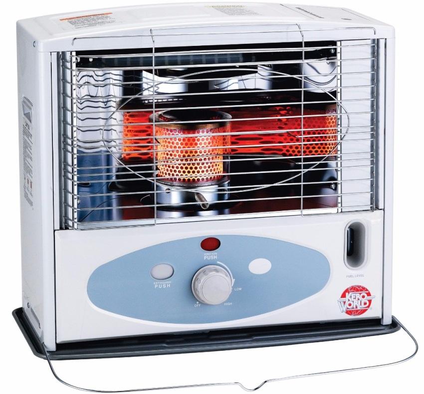 При отоплении с помощью обогревателя теплый воздух циркулирует внутри помещения