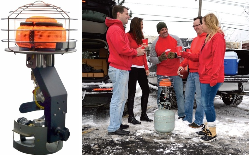 Туристический газовый обогреватель с углом вращения головки на 540 градусов