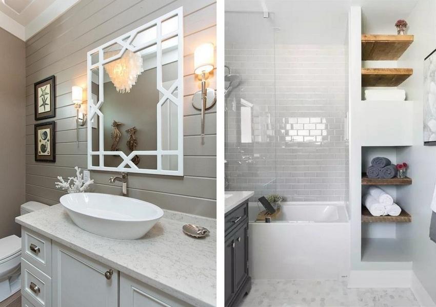 Пластиковые панели - практичный и бюджетный вариант облицовки стен ванной комнаты