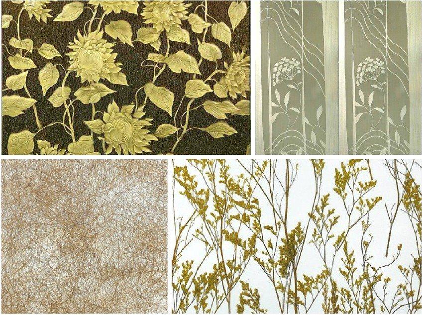 Декоративные стеновые ПВХ панели с растительными мотивами