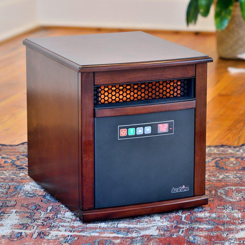 Мобильный вариант инфракрасного кварцевого обогревателя, выполненного в виде предмета мебели