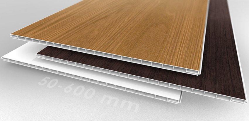 Оптимальная ширина панелей для отделки стен - 50-60 см