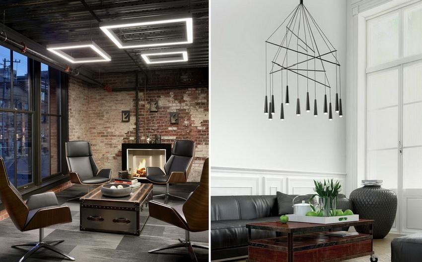 Варианты дизайна современных светодиодных люстр ограничены только вашей фантазией
