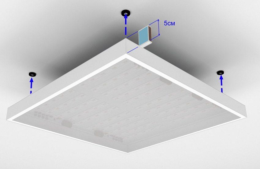 Накладные потолочные светильники не требуют специальных углублений и легко монтируются на любой тип потолка