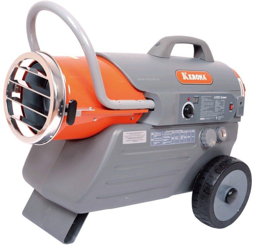 Тепловая газовая, дизельная или электрическая пушка - распространенный вариант отопления в гараже
