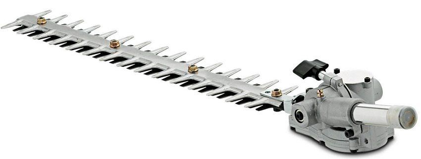 Триммер можно доукомплектовать дополнительными режущими механизмами