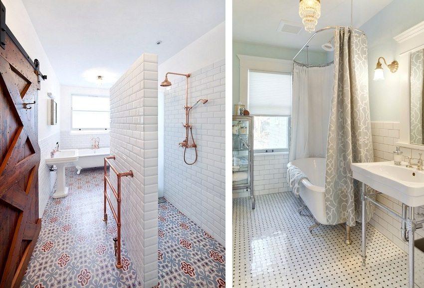 Варианты оформления ванных комнат с помощью пластиковых панелей под плитку