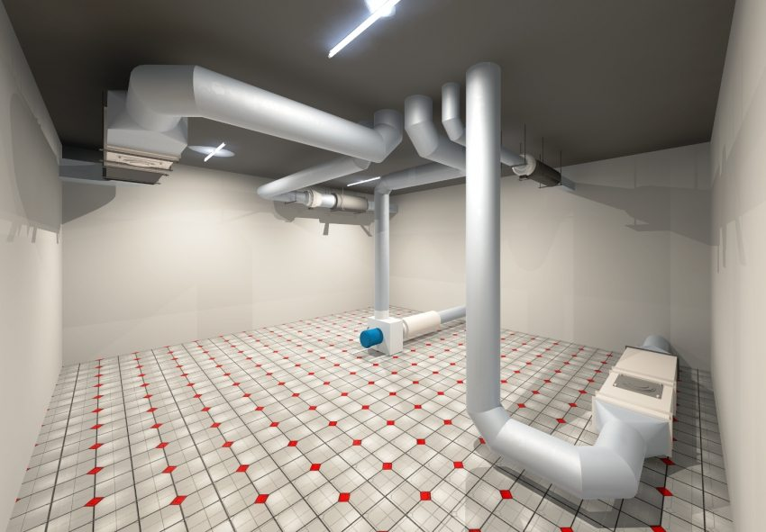 3D-проект автматической вентиляционной системы погреба