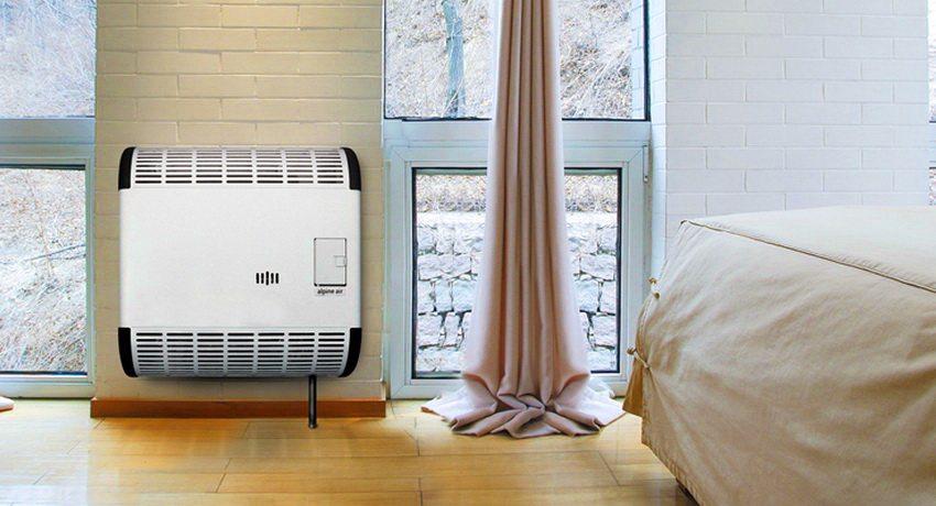 В жилых помещениях лучше использовать газовый конвектор с закрытой камерой сгорания