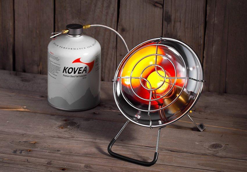 Газовый обогреватель Kovea Fire Ball может использоваться как для обогрева, так и для приготовления пищи