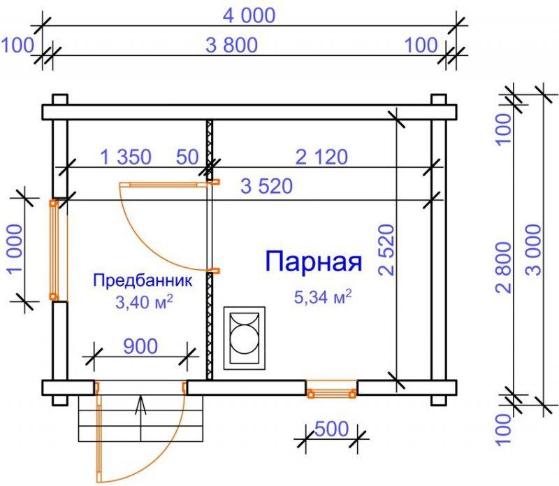 Каркасно-щитовая баня своими руками строительство