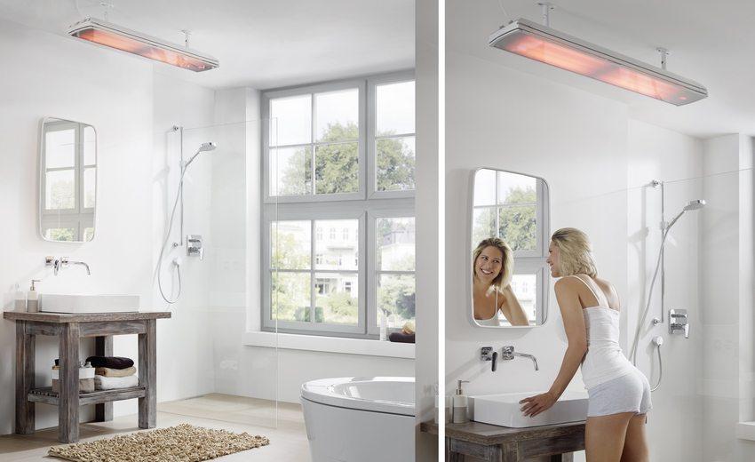 Для обогрева ванной комнаты необходимо использовать специально разработанные для работы в условиях повышенной влажности приборы