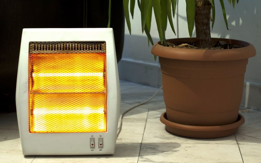 Компактный электрический обогреватель открытого типа