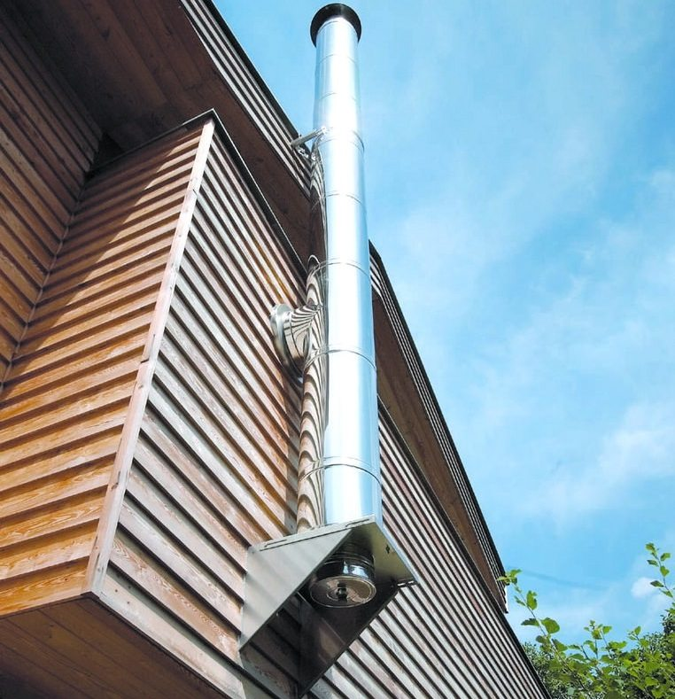 Чем ниже будет расположена труба по скату крыши, тем больше она должна возвышаться над ее поверхностью