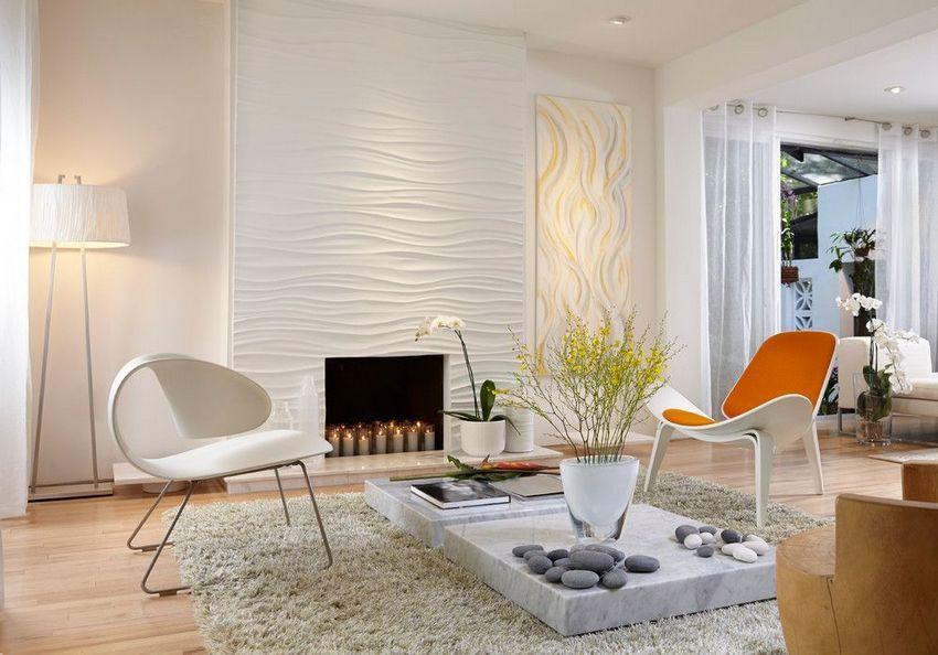 С помощью 3D-панелей из ПВХ можно создать уникальный дизайн в помещении