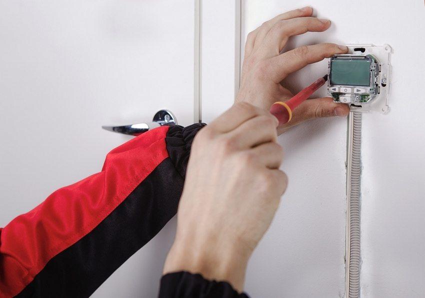 Процесс монтажа терморегулятора своими руками