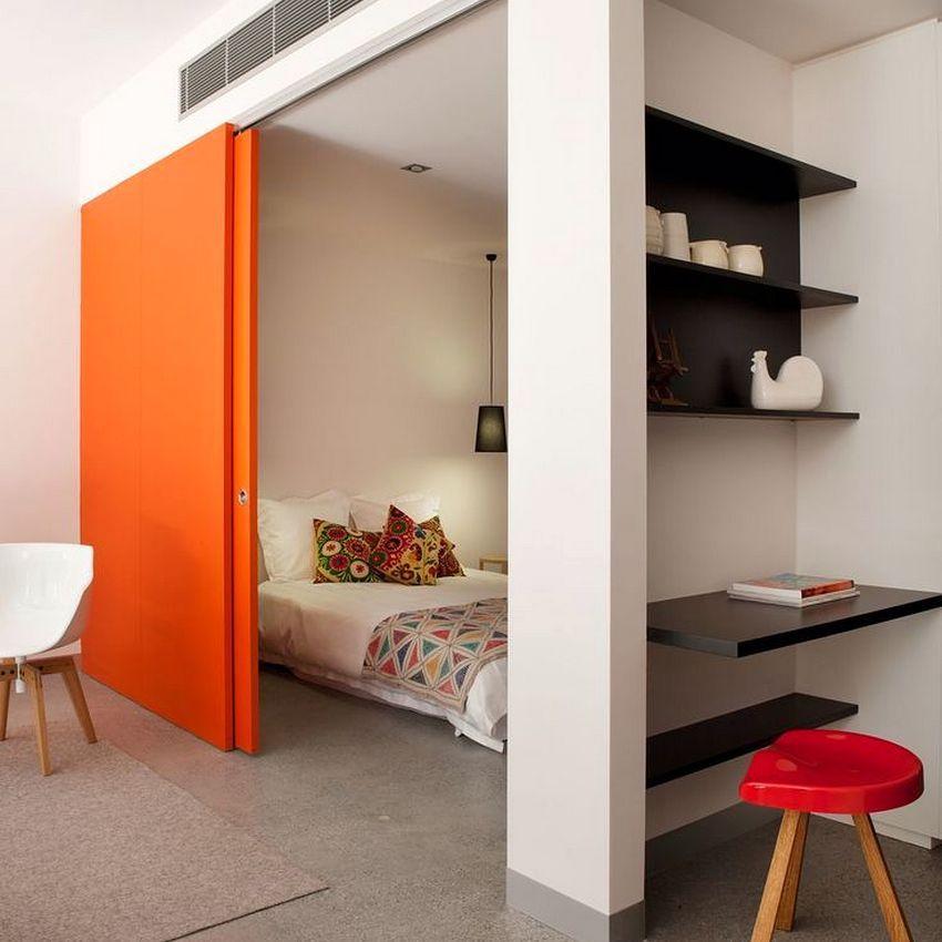Раздвижные перегородки успешно используются для зонирования пространства как в больших помещениях, так и в комнатах с маленькой площадью