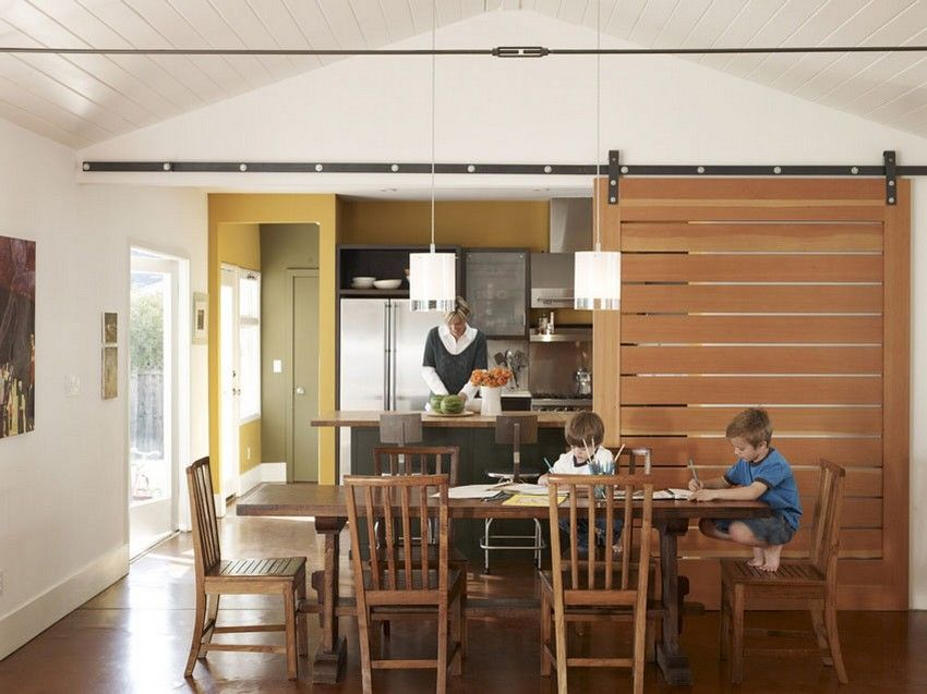 A very popular use of partitions made of wood and other eco-friendly materials