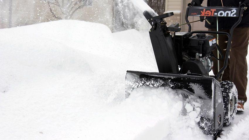 От размеров ковша зависит объем захвата снега