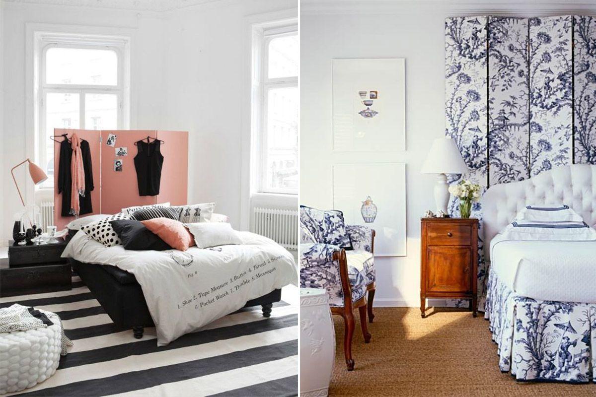 Ширмы прекрасно гармонируют с современным интерьером комнаты