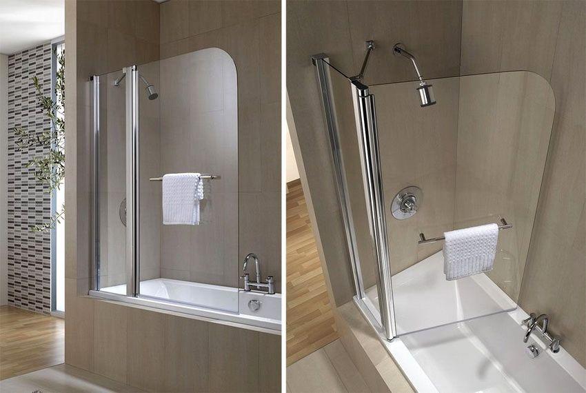 Бескаркасные стеклянные перегородки - наиболее удобный вариант для ванной
