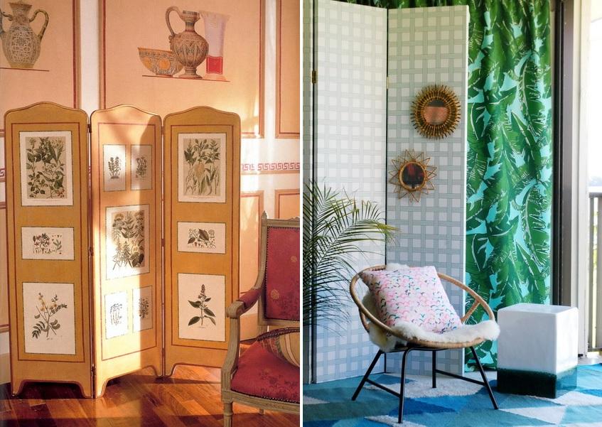 В сети Интернет можно найти массу оригинальных идей по украшению комнатных ширм