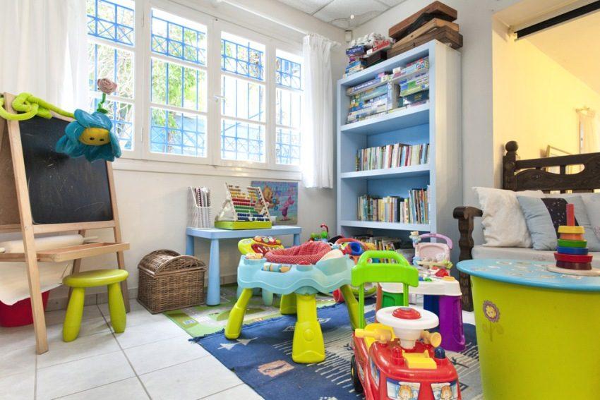 Основное место в комнате ребенка 1-4 лет отводится под зону для игр