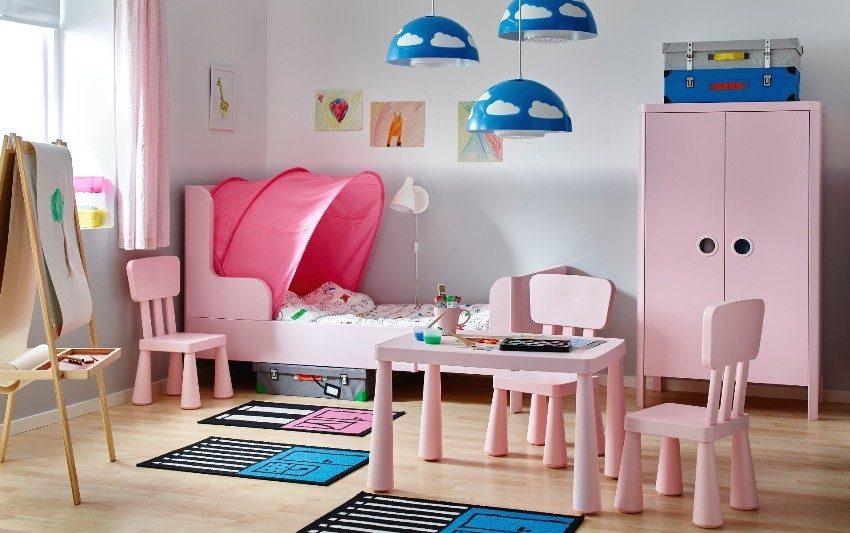 Симпатичный интерьер в ванильно-розовых тонах