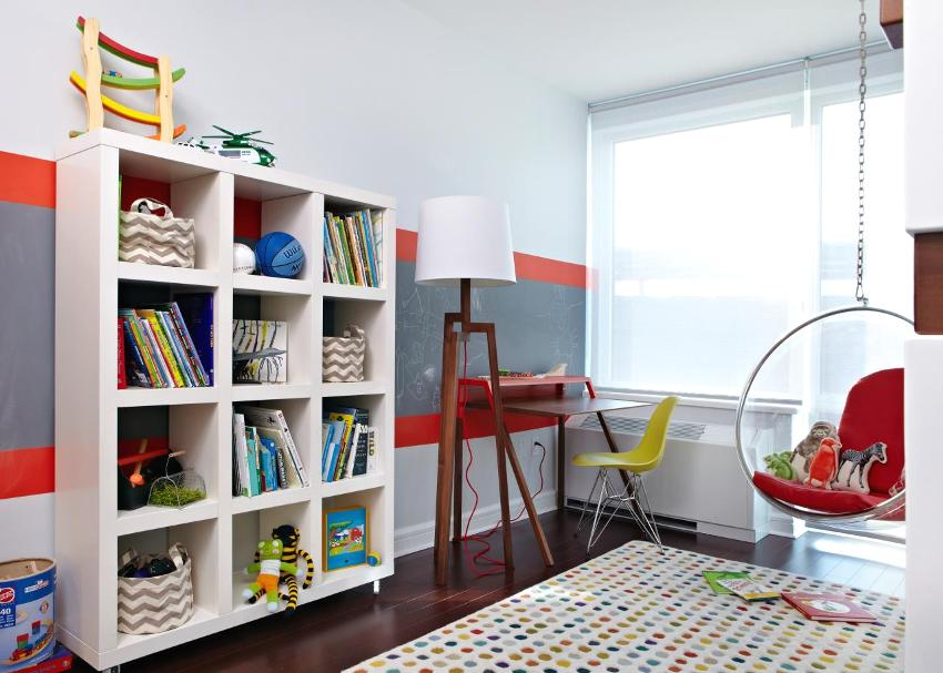 Современная мебель в детской комнате девочки