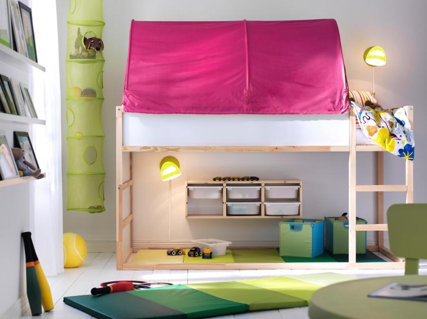 Функциональное освещение разных зон в детской