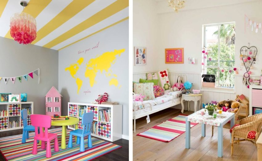 Детские комнаты с ярким декором