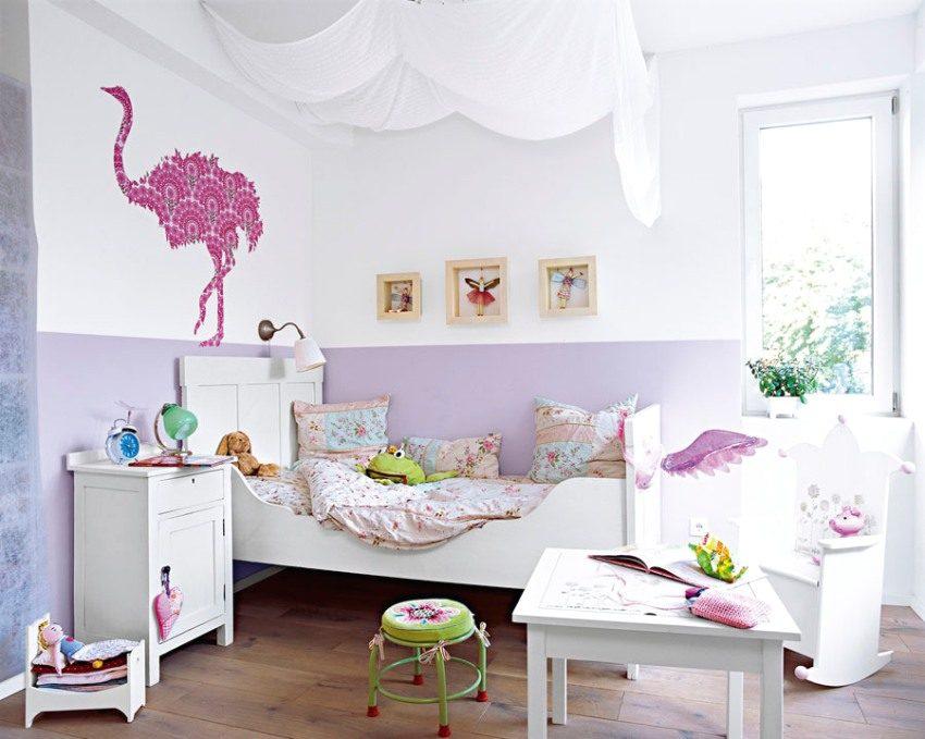 Применение текстиля для оформления потолка в детской