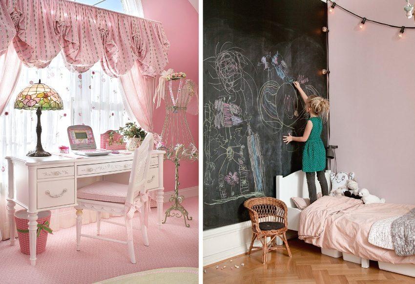 Примеры красивых розовых девичьих спален