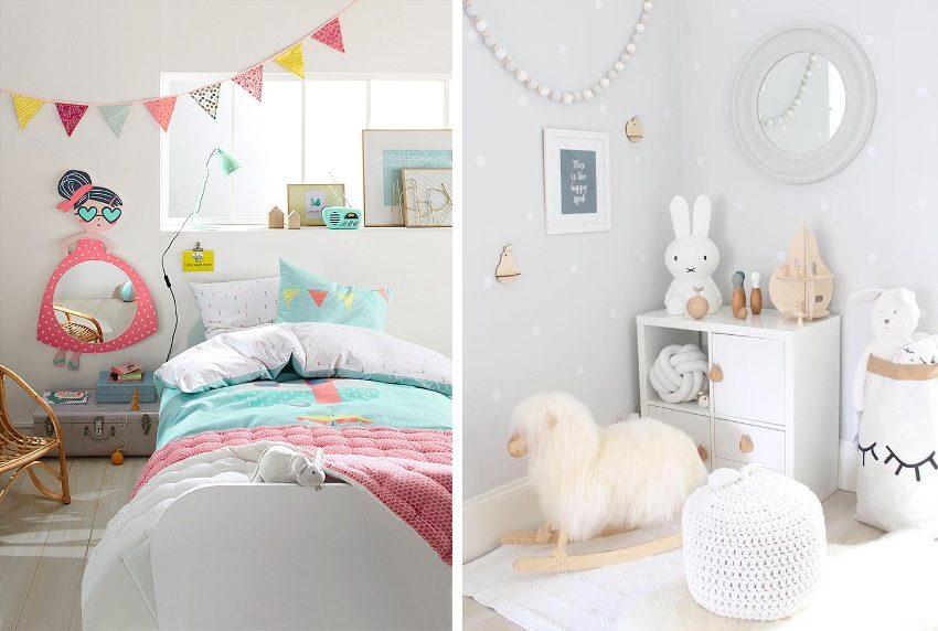 Удачные примеры белых интерьеров детских комнат