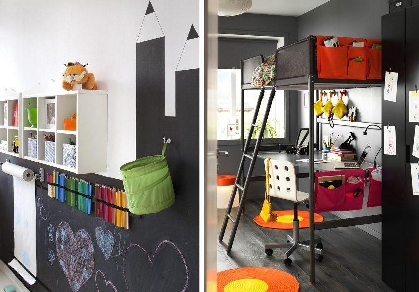 Примеры использования черного цвета в оформлении комнат