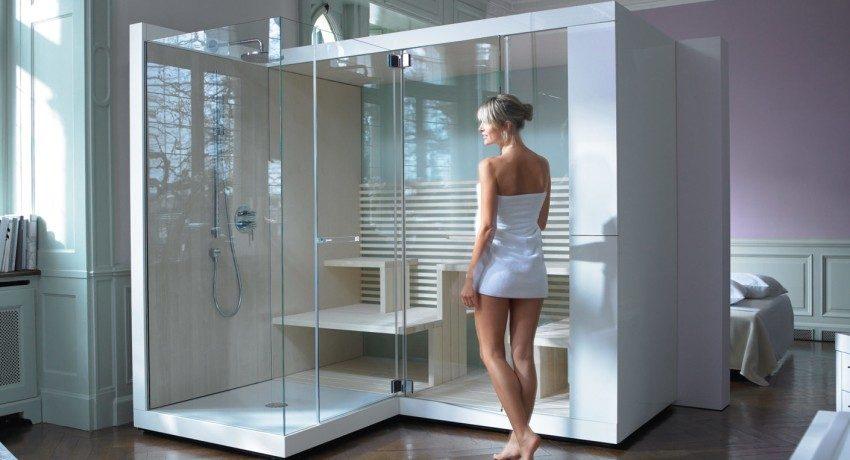 Душевые кабины: размеры и цены, фото оформления маленьких ванных комнат