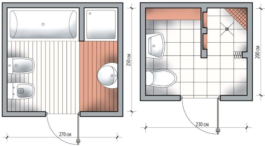 Примеры установки квадратных душевых кабин в маленьких ванных