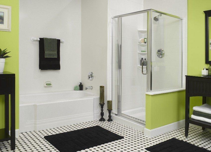В кабине открытого типа можно оборудовать только настенный душ