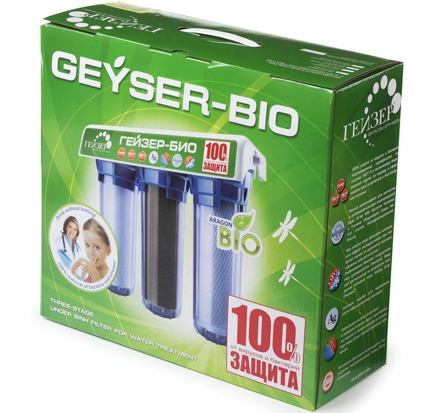 Фильтр Гейзер Bio очищает воду от вирусов и бактерий