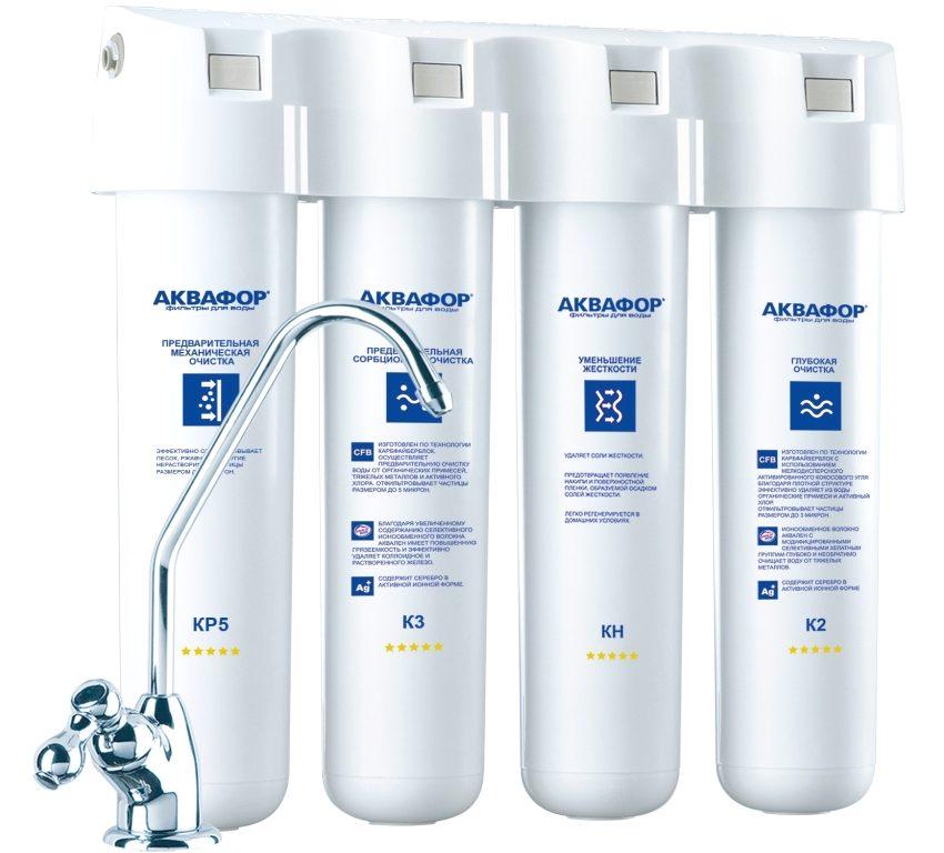 Четырехступенчатый фильтр для питьевой воды Аквафор