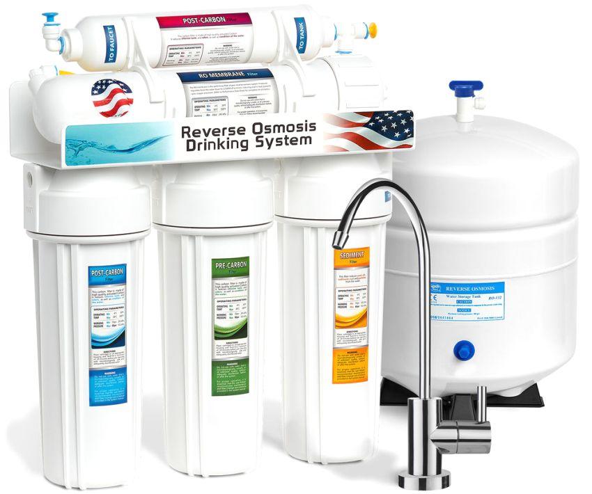Бытовой фильтр для воды с системой обратного осмоса